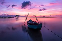 Lever de soleil sur l'océan à Phu Quoc