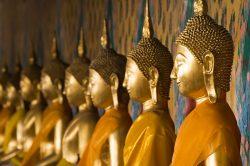 Statues en or à Bangkok