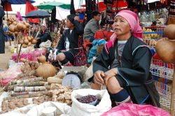 Marché de fruits et légumes à Chiang Rai