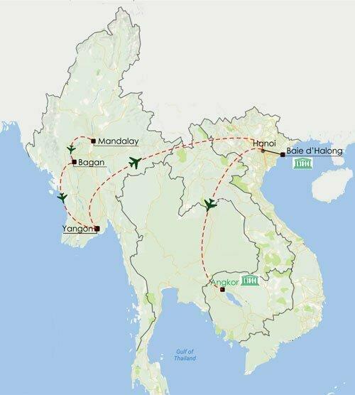 Circuit Birmanie Vietnam Cambodge 13 jours