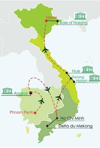 Circuit cambodge vietnam 14 jours