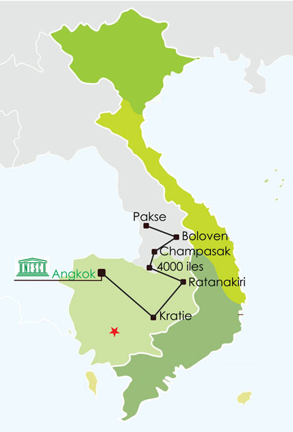 Circuit Laos Cambodge 14 jours
