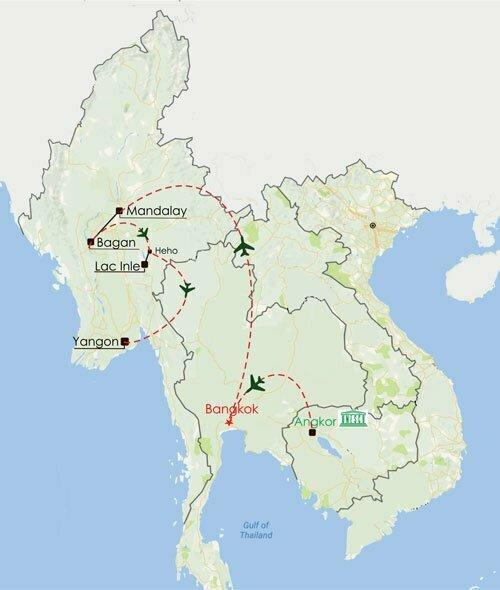 Circuit Cambodge Birmanie 14 jours