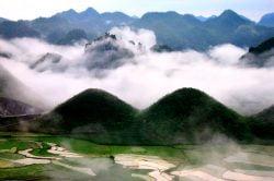 Brouillard sur les collines de Ha Giang