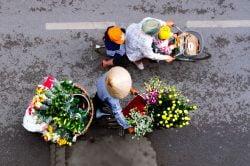 Hanoi femmes à vélo Vietnam