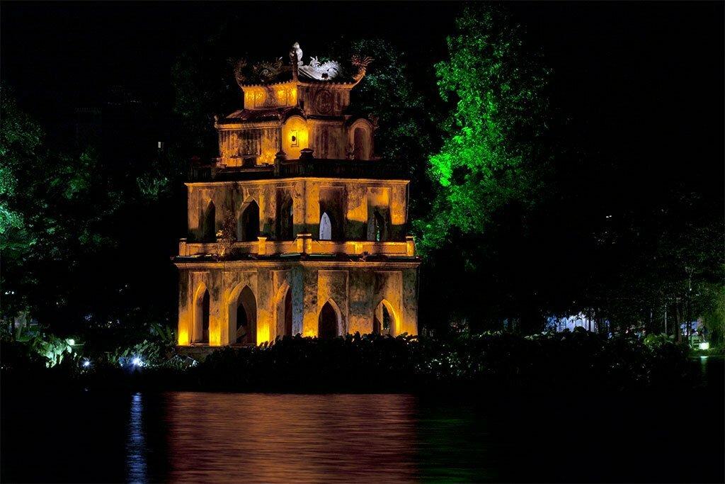 hoan kiem de nuit Hanoï Vietnam