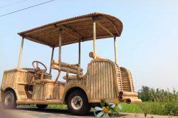 Voiturette en bambou à Hoi An