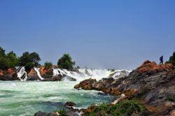 Petites cascades sur l'île de Khong