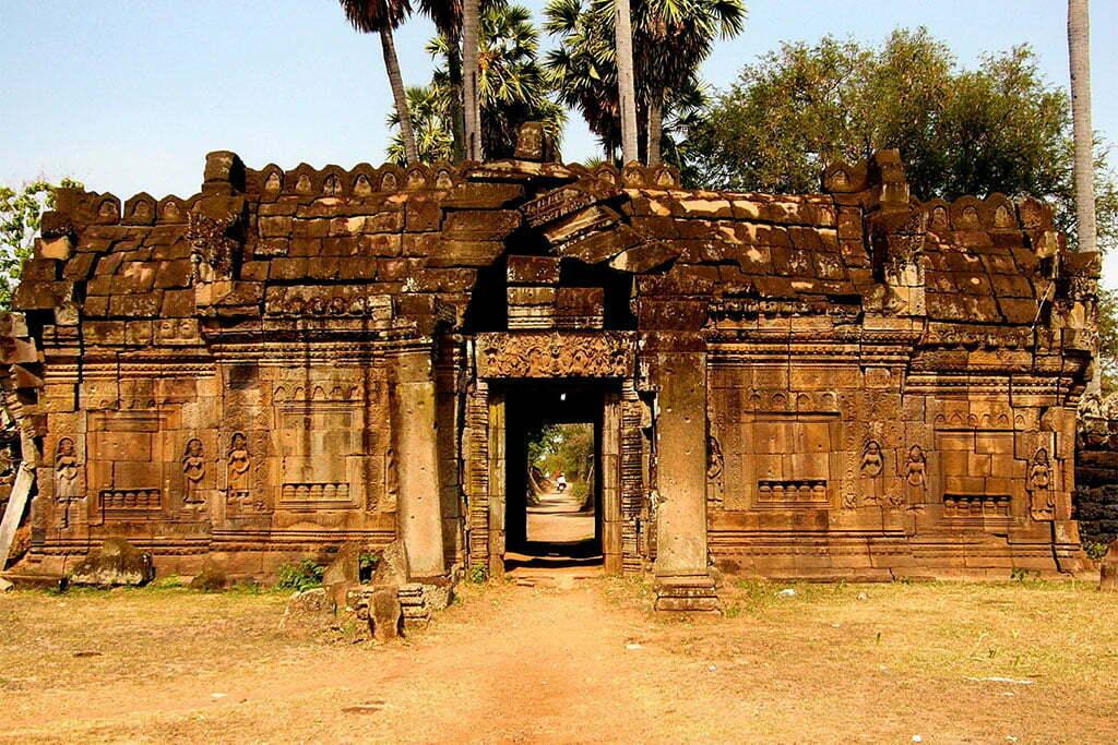 kampong cham entrée du temple
