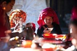 Repas traditionnel en Birmanie