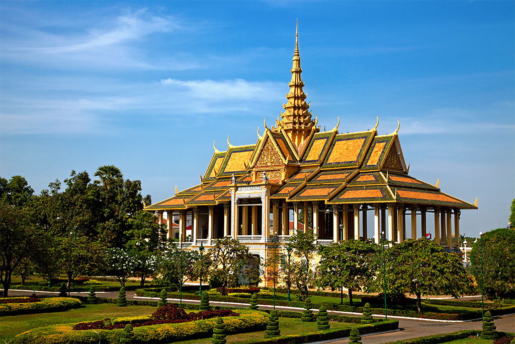 Palais coloré à Phnom Penh