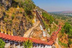 pindaya temple et murs d'enceinte