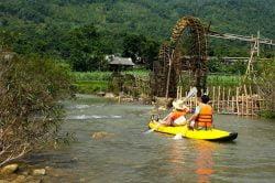 pu luong kayak sur la rivière