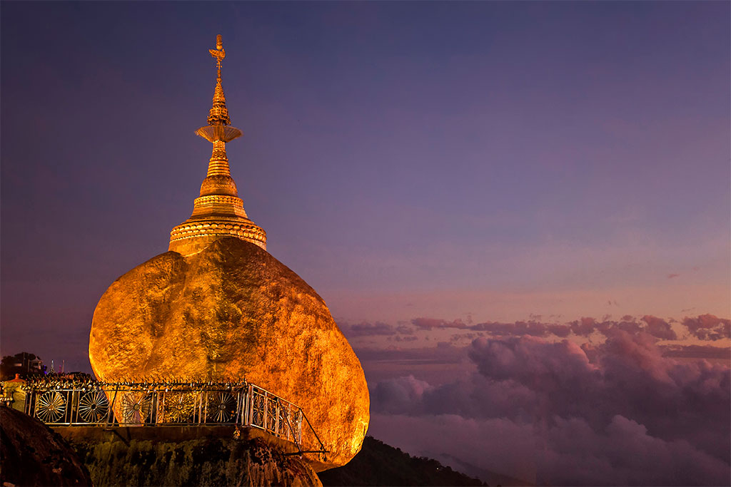 rocher d'or en Birmanie