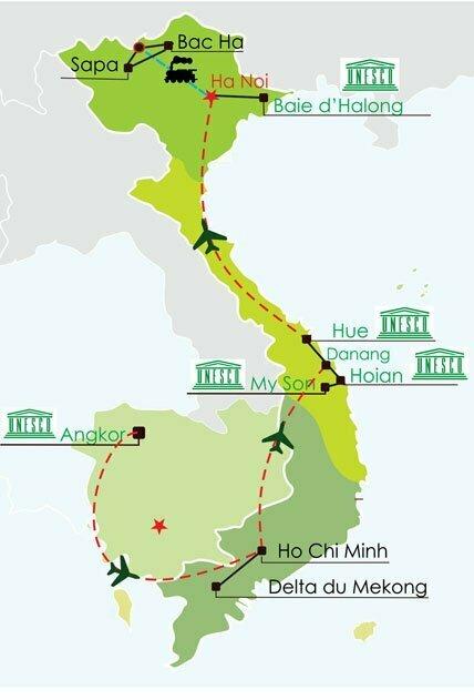 Circuit Cambodge Vietnam 17 jours