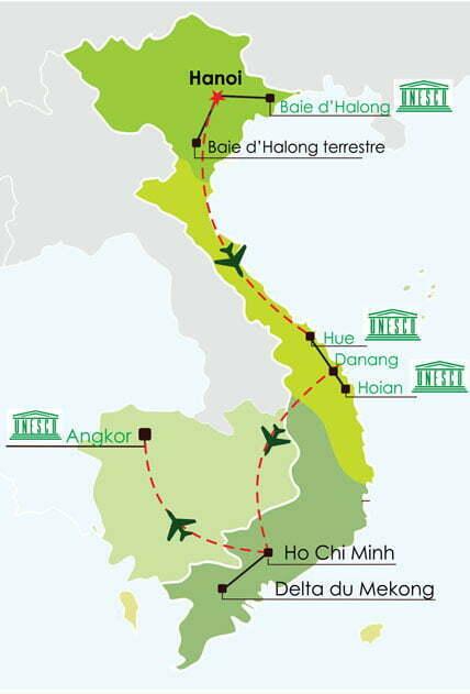 Saveurs Vietnam Cambodge 15 jours