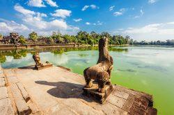 siem reap cambodge, temples d'Angkor vue sur la rivière