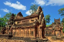 Temple en pierre à Siem Reap