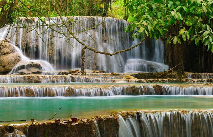 Cascades et bains naturels à Khuang sy