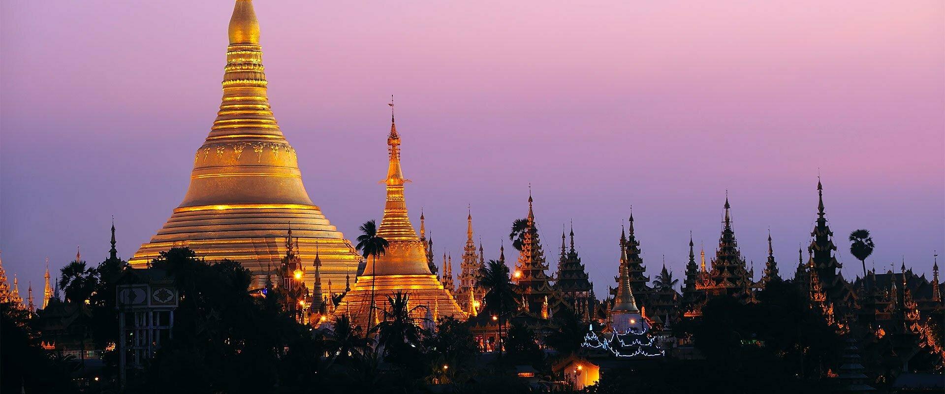 les temples de yangon de nuit birmanie