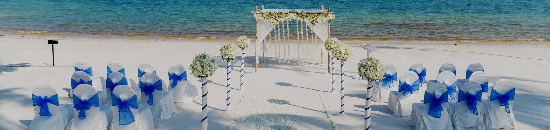 Hotel de mariage sur la plage