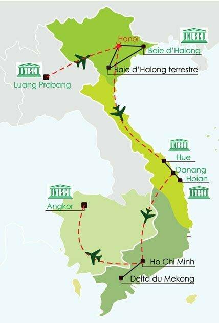 Circuit Vietnam Laos Cambodge 17 jours