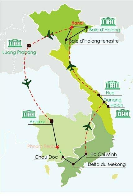 Circuit Vietnam Laos Cambodge 3 semaines