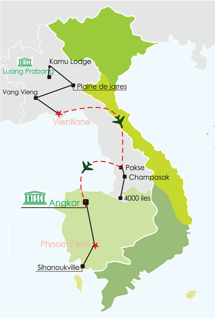 Circuit Laos Cambodge 22 jours - circuit laos cambodge