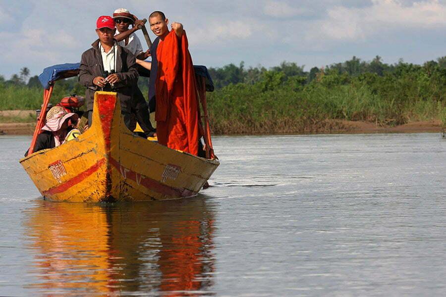 battambang cambodge, bateau taxi sur la rivière