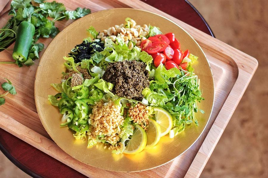 cuisine birmanie salade de légumes frais