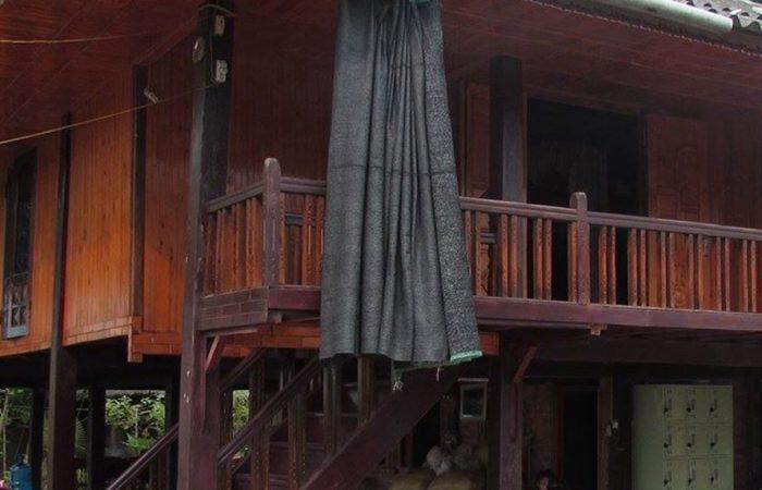 maison en bois chez Chung au Vietnam