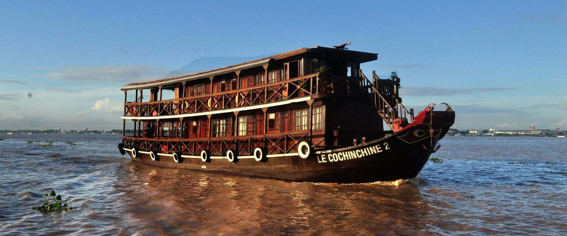 Jonque sur le Mekong