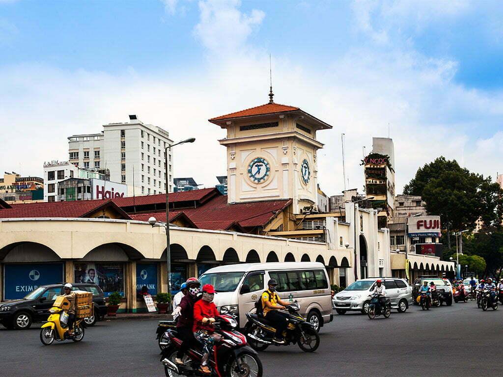 le trafic d'Ho Chi Min Ville