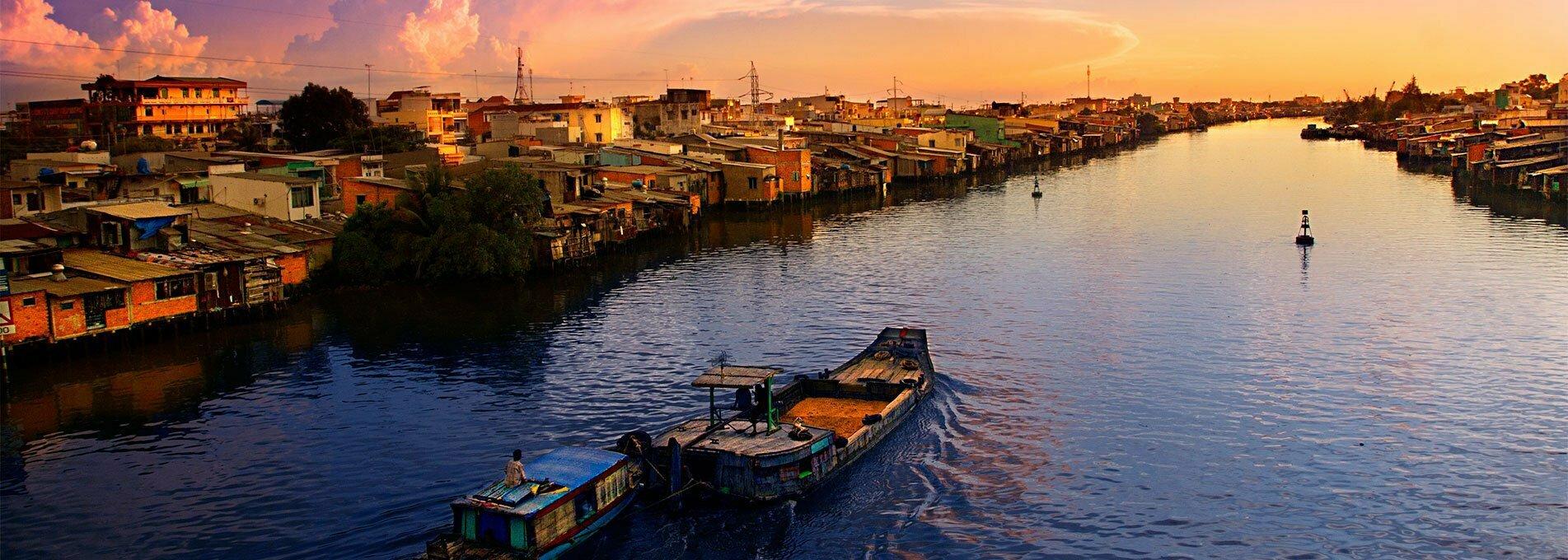 Excursions Mekong au couché du soleil