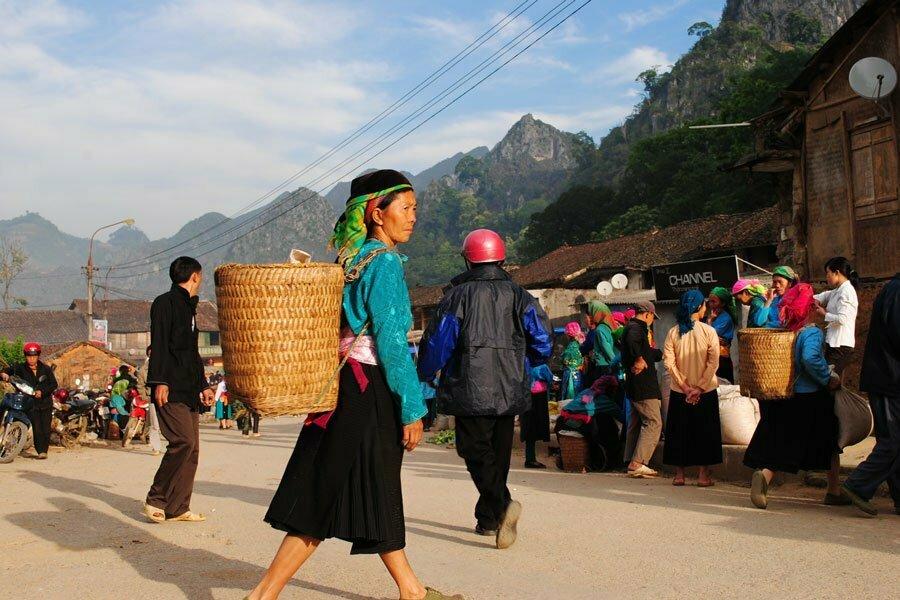marché à Hagiang, ethnie locale