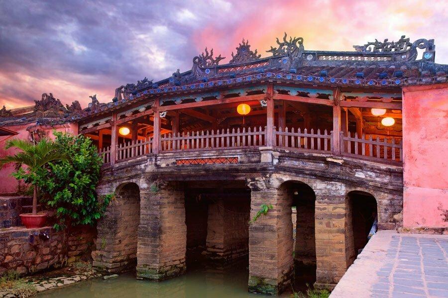 pont japonais à Hoi An Vietnam