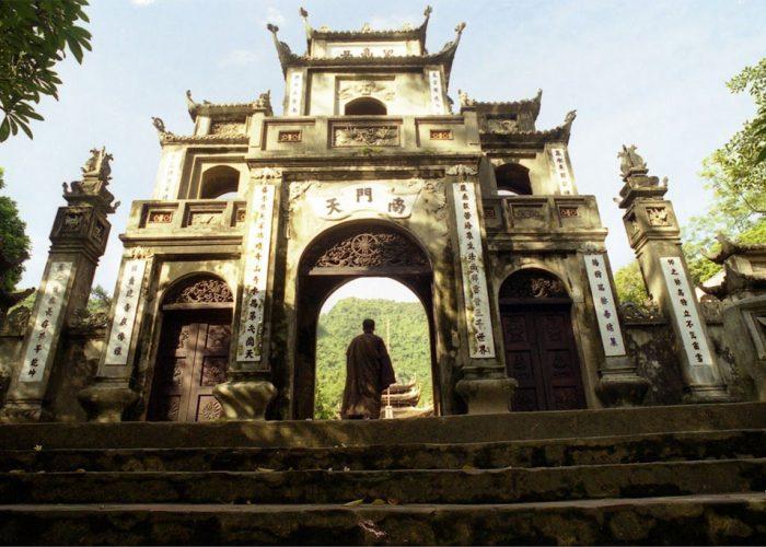 porte extérieure de la pagode des parfums, Vietnam