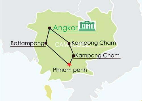 Circuit cambodge 13 jours