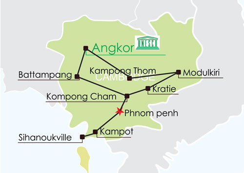 Circuit Cambodge 17 jours