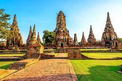 temples à Ayutthaya Thailande