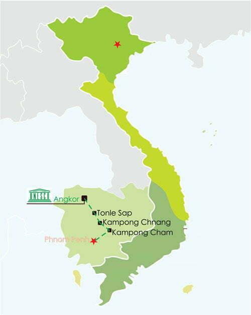 Croisière Siem Reap - Phnom Penh